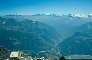 Valle D'Aosta - Una vista dal Monte Bianco sul Gran Paradiso
