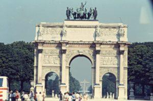 Parigi - L'arco dei Giardini Di Touleries