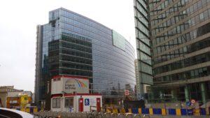 Il Palazzo della Commissione Europea.