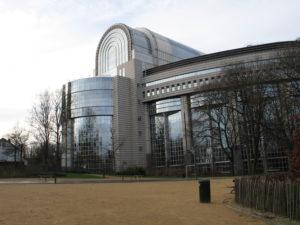 Palazzo Charlemagne, sede del Parlamento Europeo. (retro)