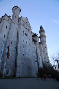 Il castello di Neuschwanstein - scorcio.