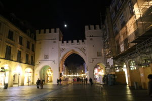 KarlsPlatz - Ingresso alla zona pedonale del centro storico.