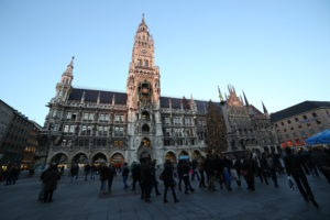 Marienplaz con la New Town Hall.