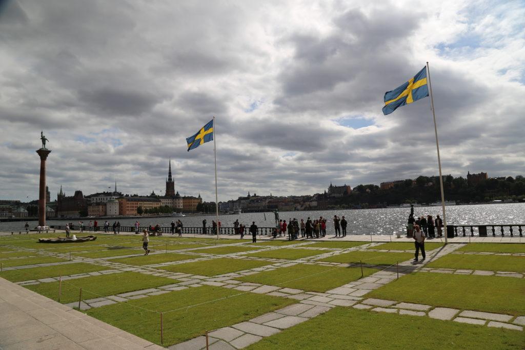 Stoccolma. - Il il parco davanti il Minicilio.