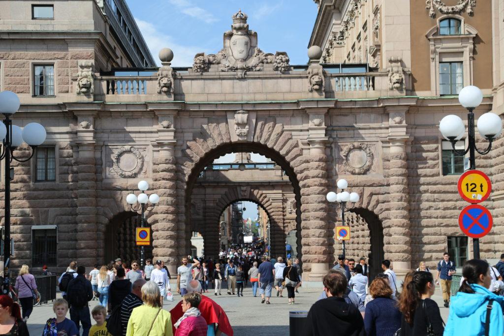 Stoccolma, Riksdag - Il passo della Regina.