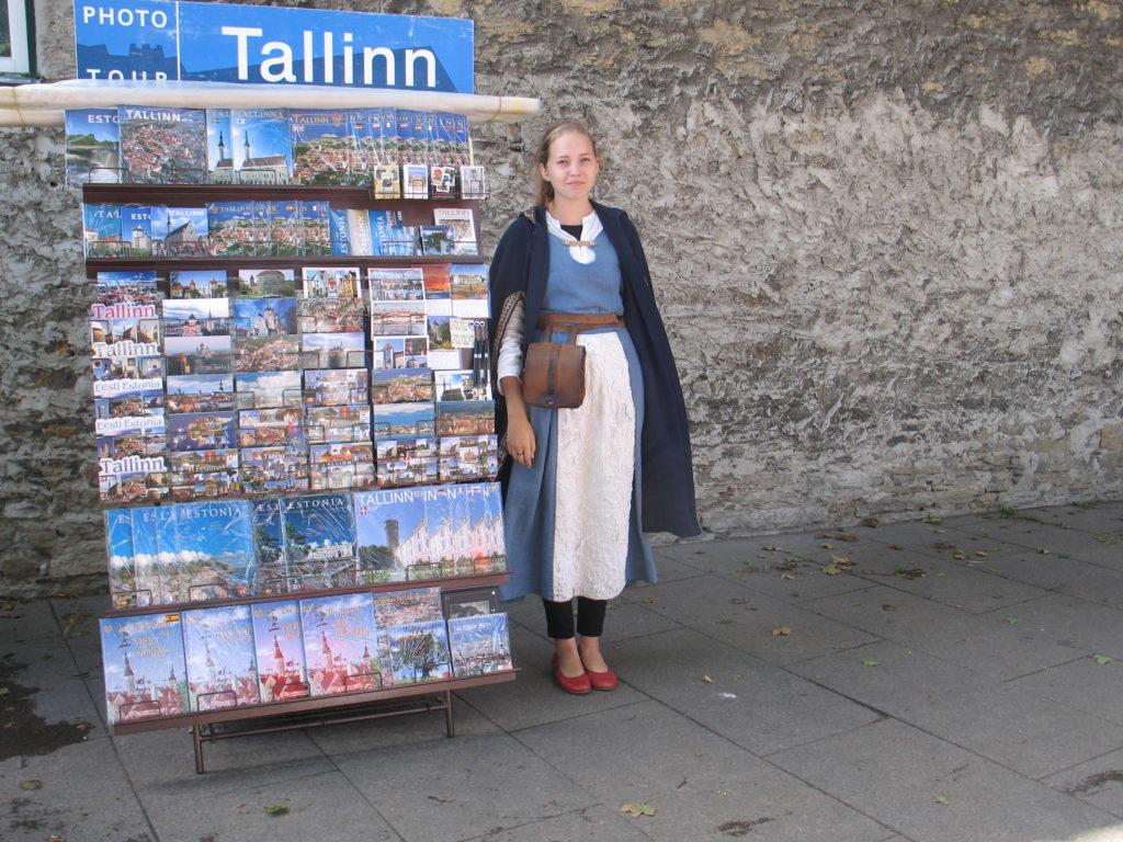 Tallinn, una bella promotrice Estone.