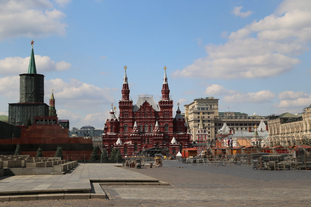 Mosca, la Piazza Rossa – il mausoleo di Lienin.