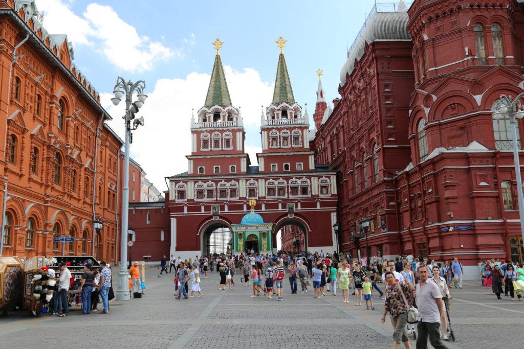 Mosca, ingresso alla Piazza Rossa