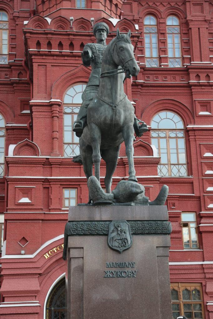 Mosca, Monumento al Maresciallo Zhukov.