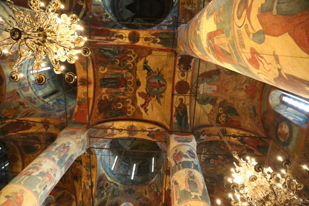 Mosca, Cremlino, interno della Cattedrale dell'Assunzione.