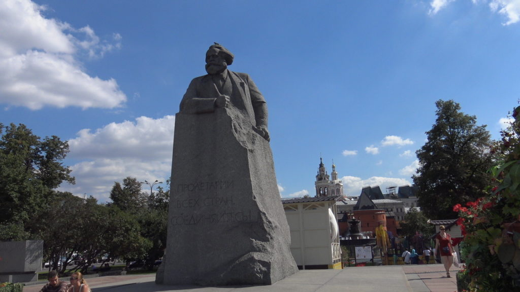 Mosca, la piazza del teatro davanti al Bolshoy