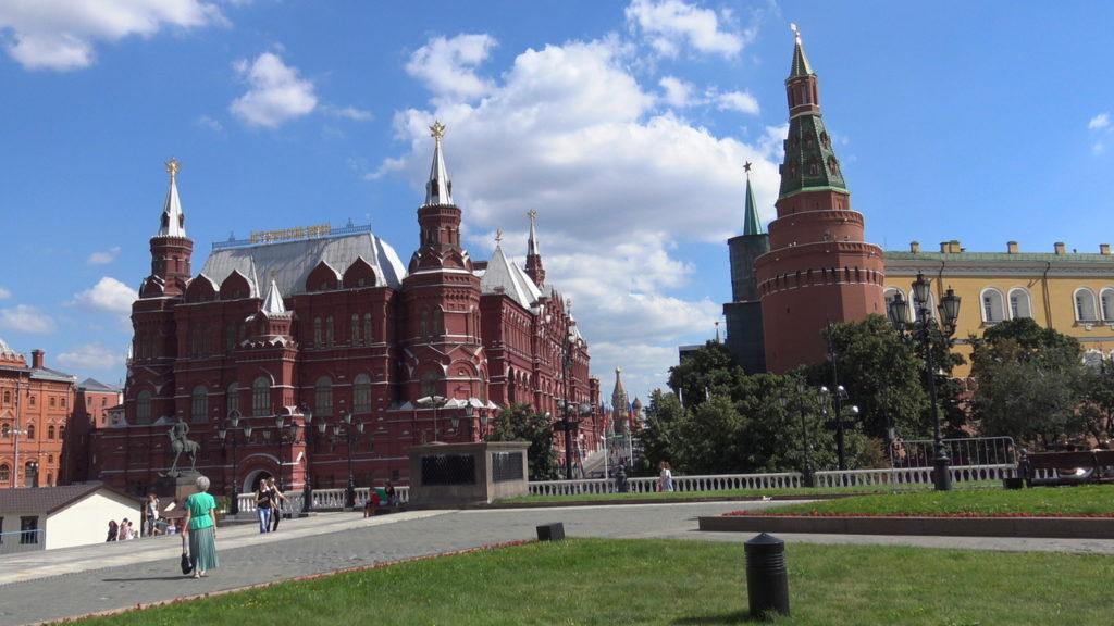 Mosca, l'ingresso alla Piazza Rossa.