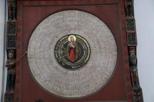 Danzica, la Cattedrale – l'orologio astronomico.