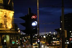 Il semaforo per biciclette!