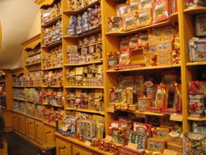 Negozio di biscotti nei pressi della Grand Place.
