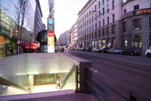 Una fermata del metrò.