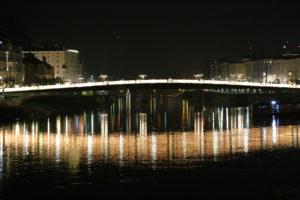 Il Fiume Salzach di notte.