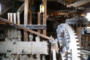 Zaanse Schans,, l'interno di un mulino.