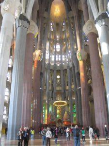 La Sagrada Familia, interno.