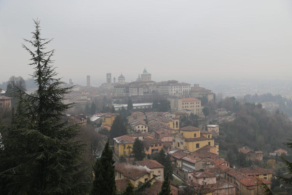 Bergamo alta. Panorama da S. Vigilio