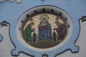 """St. Elizabeth Church meglio conosciuta come la """"Chiesa Blu"""""""
