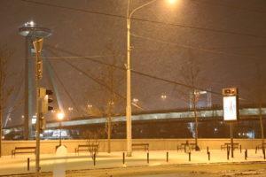 Il ponte Nuovo con l'Ufo, di sera con -7!!!!