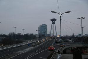 Panoramica sul ponte nuovo e l'Ufo