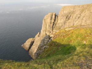 La scogliera di Capo Nord.