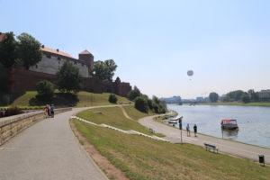 La Vistola e il Castello di Wawel.
