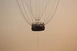 La mongolfiera panoramica.