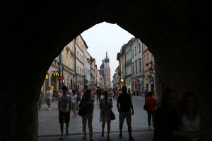 Porta Florianska, dal Barbacane si va in piazza.