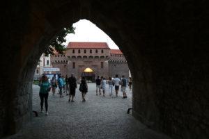 Porta Florianska, e il Barbacane.