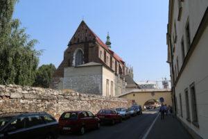 Kazimierz, la chiesa di Santa Rita.