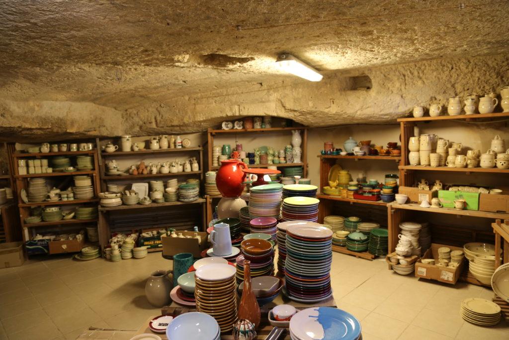 Negozio di ceramiche.