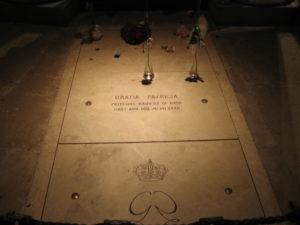 Principato di Monaco, la tomba della principessa Grace all'interno della Cattedrale