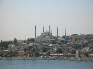 Istanbul vista dal Bosforo.