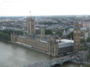Westminster vista dal London Eye