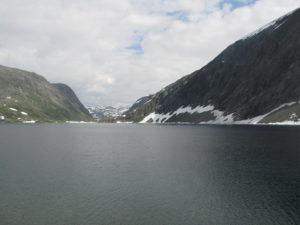 Il laghetto sul monte Dalsnibba.
