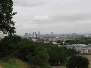 Panorama dall'osservatorio di Greenwich.