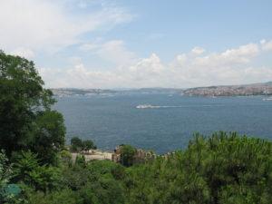 Il Bosforo visto dal palazzo Topkapi a Istanbul.