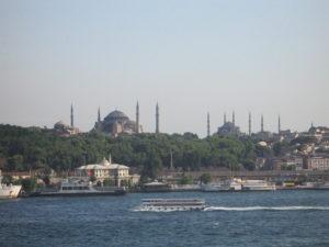 Istanbul, vista dal Bosforo.