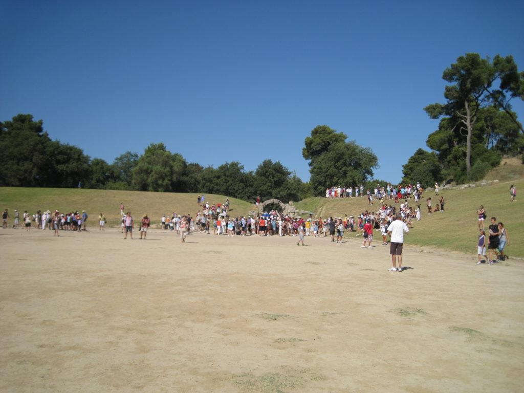 Olimpia, lo stadio.