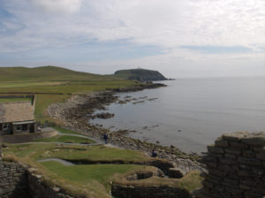 La costa delle Shetland.