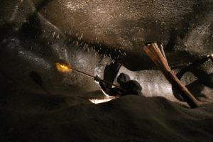 Rappresentazione della vita in miniera.