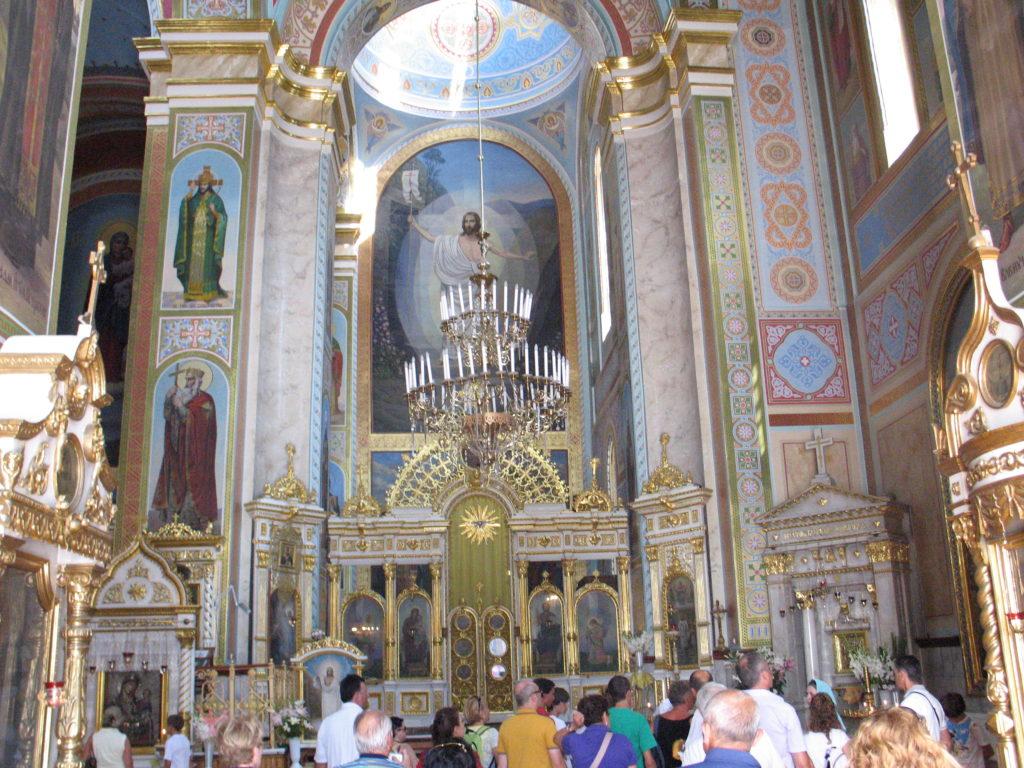 Interno di una chiesa ortodossa.