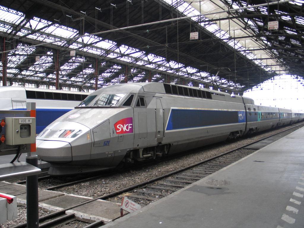 Il TGV alla stazione di Paris Gare de Lyon.