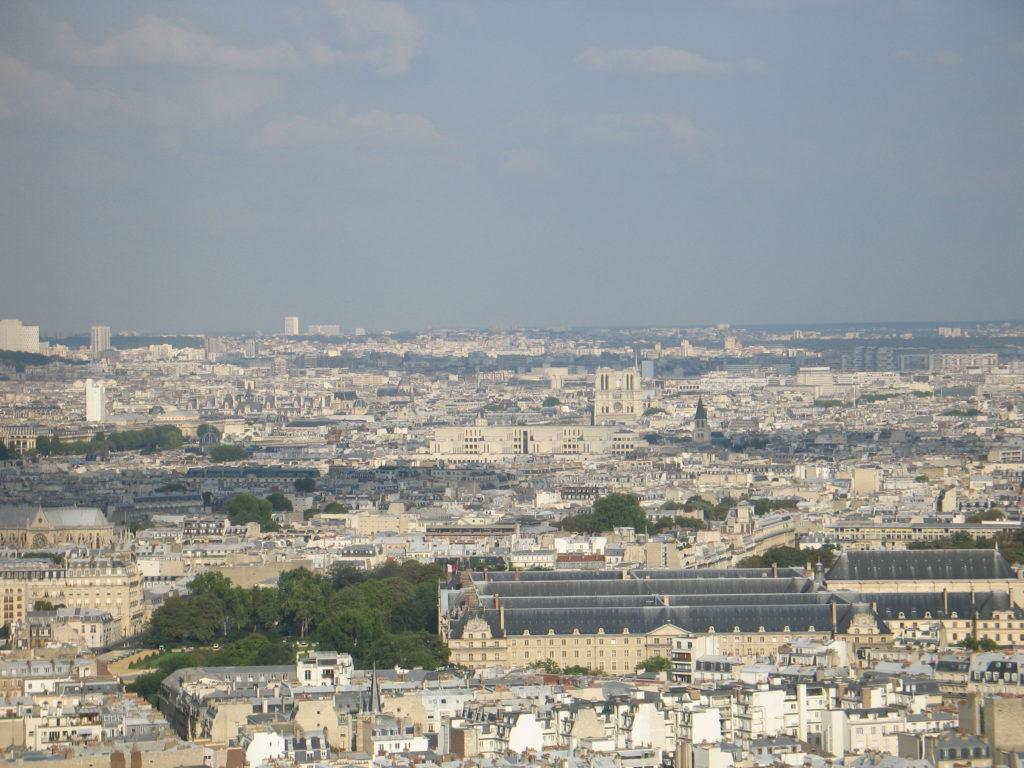 Panorami dalla cima della Torre Eiffel.