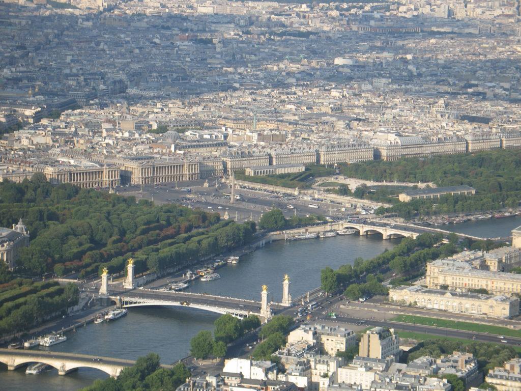 La Senna vista dalla cima della Torre Eiffel.