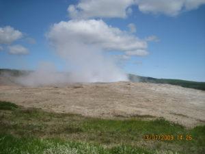 Gaiser in eruzione.