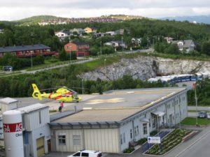 Tromso, l'elisoccorso dell'ospedale.